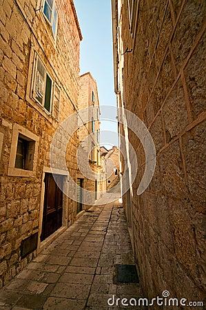 Street in the small town in Croatia