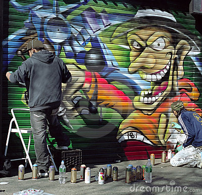 Free Street Spray Artist New York City USA Stock Photos - 6438153