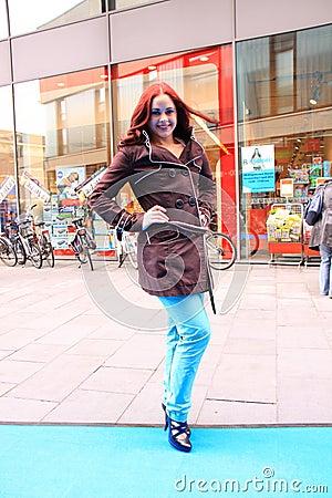 Street style city fashion model Editorial Stock Image