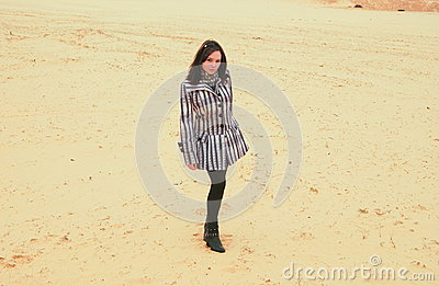 Street style in sand Stock Photo