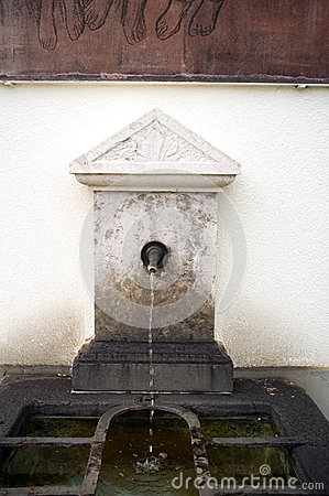 Street tap with running water