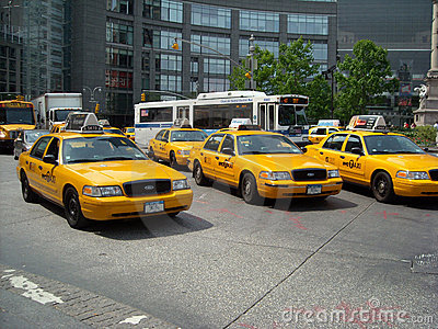 Street Taxi Traffic New York City USA Editorial Photo