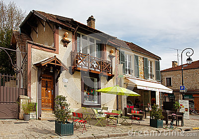 Street Terrace in Barbizon Editorial Photo