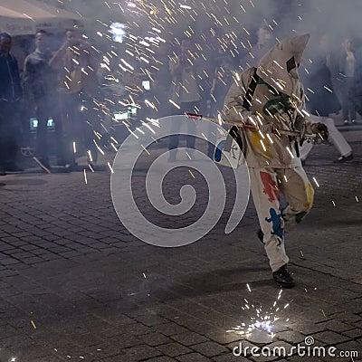 Street Theater Xarxa Editorial Photo