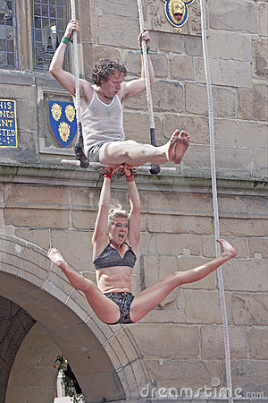Street Theatre Circus Performers Editorial Stock Image