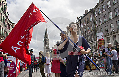 Street Theatre in Edinburgh Editorial Image