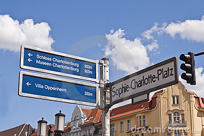 Street and touristic indicator in Berlin