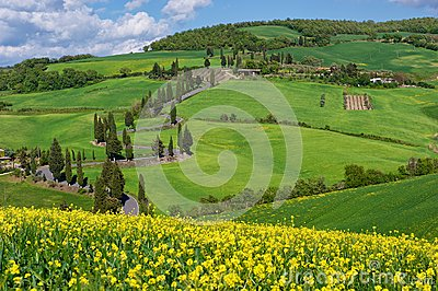 Street of Tuscany, Val d Orcia