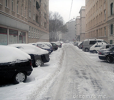 Street under snow