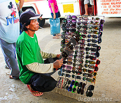 Street vendor in Asia Editorial Image