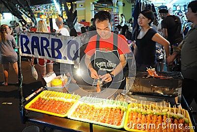 Street Vendor in Bangkok Editorial Photo