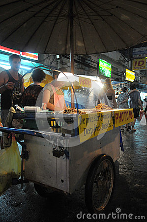 Street Vendor in Bangkok Editorial Stock Image