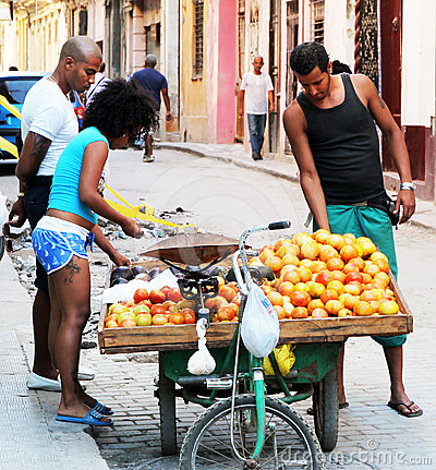 Street Vendor in Havana Editorial Photo