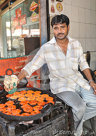 Free Street Vendor In India Stock Image - 71366961