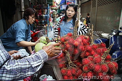 Street vendor in Thailand Editorial Stock Photo