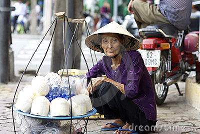 Street Vendor Vietnam Editorial Photo