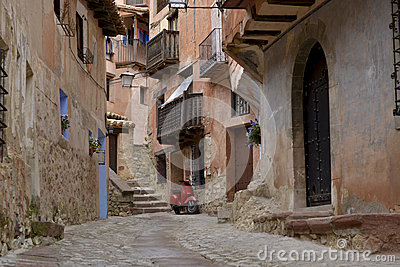 Street view of albarracin, spain