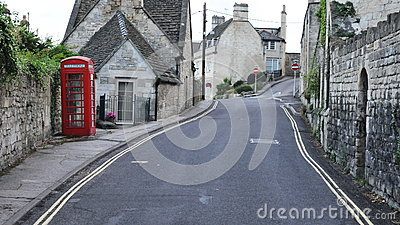 Street View of an English Town