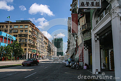 The street view in macao Editorial Image