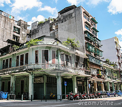The street view in macao Editorial Photography