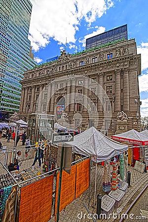 Free Street View Of Alexander Hamilton US Custom House Lower Manhatta Royalty Free Stock Image - 70148356