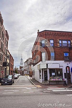 Free Street View Of Harvard University Area In Cambridge Royalty Free Stock Photo - 72322485