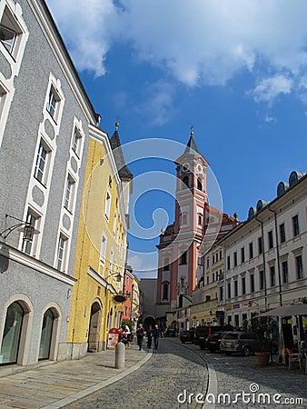 Street view in Passau, Bavaria, Germany
