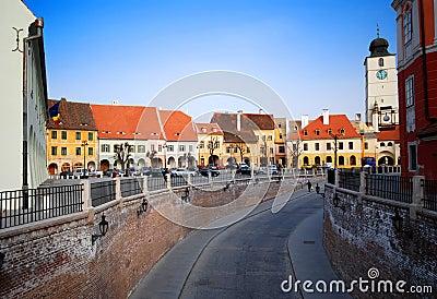Street view of  Sibiu