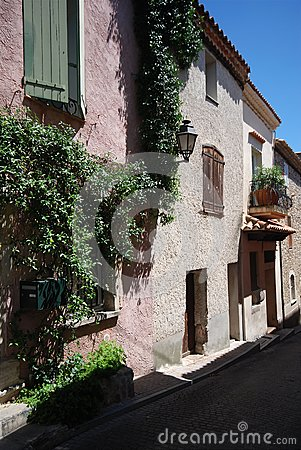 Street view in village of provence, France