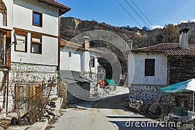 Street in village of Rozhen, Bulgaria Stock Photo