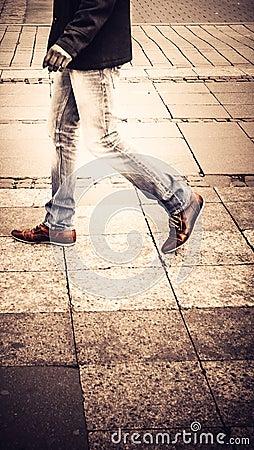 Street Walker In Berlin Germany Stock Photo Image 43240690