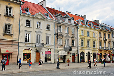 Street in Warsaw, Poland Editorial Image