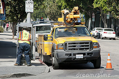 Street workers Editorial Photo