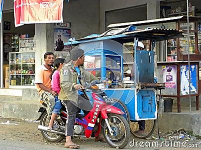Street of Yogyakarta Editorial Stock Photo