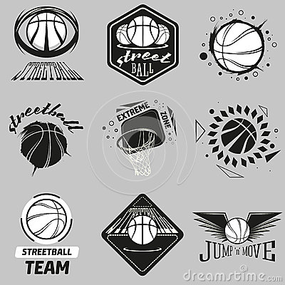 Streetball Logo Set Stock Vector - Image: 54430398