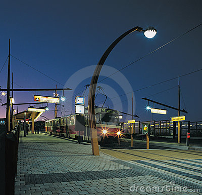 Streetcar track from Prague Editorial Image