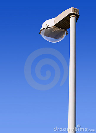 Streetlamp with clipping path