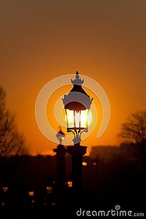 Streetlamp in Paris