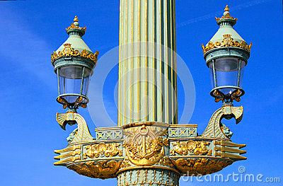 Streetlamp at Place de la Concorde in Paris