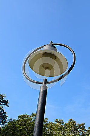 Streetlight  on blue sky