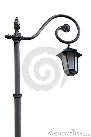 Streetlight isolated on white