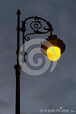 Free Streetlight Lit At Dawn Stock Photos - 73732163