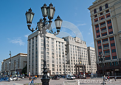 The streetlight on Manege Square Editorial Stock Image