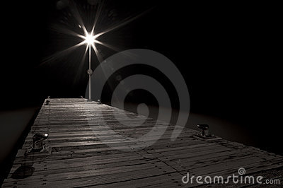 Streetlight Of A Pier Stock Image - Image: 23208541