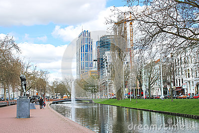 On  streets of the city of Rotterdam. Editorial Photography
