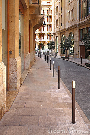 Streets of Downtown Beirut (Lebanon)