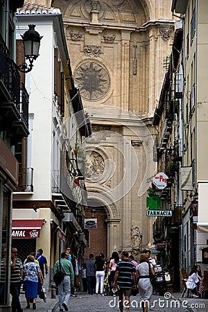 Streets of Granada Editorial Photo