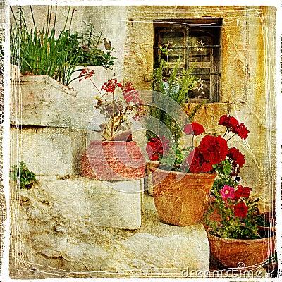 Streets of greek villages