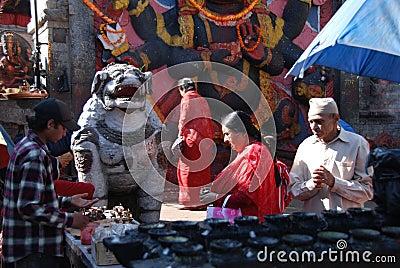 Streets of Kathmandu Editorial Image