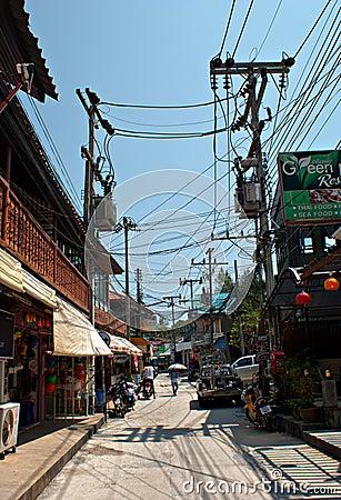 Streets of Koh Phangan Editorial Image